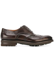 Santoni Classic Lace Up Brogues Brown