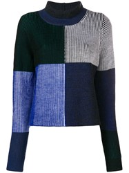 Paul Smith Ps By Funnel Neck Sweater Blue