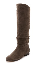 Belle By Sigerson Morrison Malina Suede Scrunch Knee Boots Alpaca