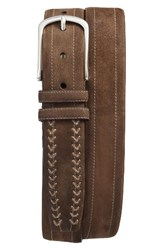 Mezlan Men's Suede Belt Khaki