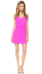 Amanda Uprichard Multi Strap Dress Hot Pink