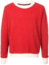 The Elder Statesman Ski Patrol Sweater Red