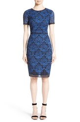St. John Women's Collection Kamala Embroidered Mesh Dress