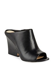 Sam Edelman Wayne Peep Toe Leather Mules Black