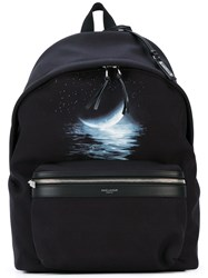Saint Laurent Print 'City' Backpack Men Nylon One Size Black
