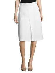 Bottega Veneta Cotton Pleated Skirt White