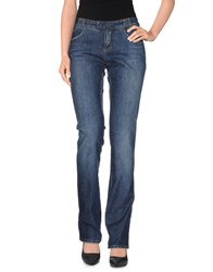 Dandg Denim Denim Trousers Women Blue