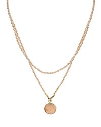 Aqua Beaded Layered Necklace 15 18 100 Exclusive Pink