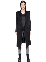 Blk Dnm Coat 27 In Hemp Fabric