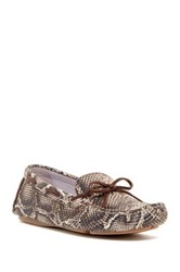 Johnston And Murphy Maggie Camp Snake Embossed Moccasin Multiple Widths Available Beige