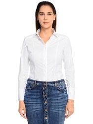 Marina Rinaldi Cotton Poplin Shirt White