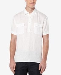 Perry Ellis Men's Double Pocket Popover Shirt Bright White