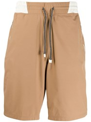 Brunello Cucinelli Drawstring Swim Shorts Brown