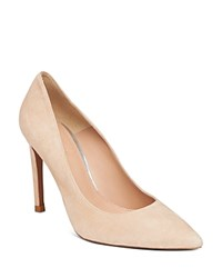 Whistles Cornel Suede Pointed Toe Pumps Nude