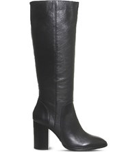 Office Kan Kan Leather Knee High Boots Black Leather
