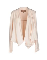 Space Style Concept Suits And Jackets Blazers Women Light Pink