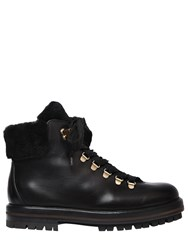 Attilio Giusti Leombruni 30Mm Leather And Shearling Hiking Boots