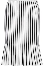 J.W.Anderson Fluted Striped Ribbed Knit Skirt White
