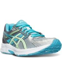 Asics Women's Gel Contend 3 Wide Running Sneakers From Finish Line Silver Pistachio Teal