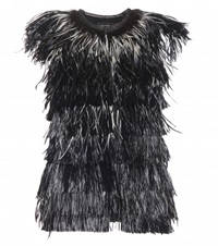 Isabel Marant Cadzi Feather Gilet Black