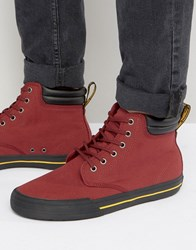 Dr. Martens Dr Eason Hi Top Canvas Plimsolls Red