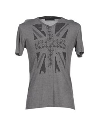 Vneck T Shirts Grey