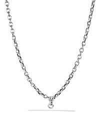 David Yurman Oval Link Chain Necklace Silver