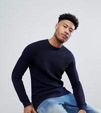 Ted Baker Tall Knitted Crew Neck Jumper Navy