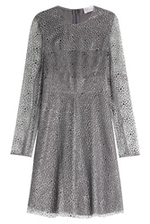 Red Valentino Tulle Dress With Glitter Grey