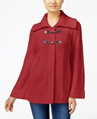 Jm Collection Petites Petite Toggle Front Cardigan Only At Macy's Red Amore