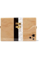 Edie Parker Stars And Stripes Small Acrylic Box Clutch Beige