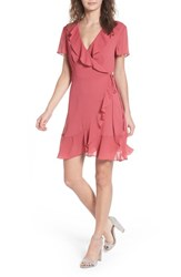 Lush Colie Ruffle Wrap Dress Blush Floral
