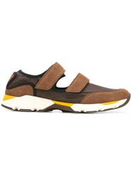 Marni Cut Out Strap Sneakers Brown