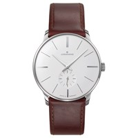 Junghans 027 3200.00 Men's Meister Manual Leather Strap Watch Brown Grey