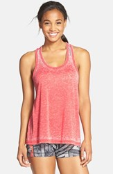 Women's Reebok 'Studio Faves' Burnout Racerback Tank Poppy Red