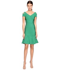 Yigal Azrouel Peplum Dress Green