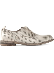 Officine Creative Perforated Lace Up Shoes Nude And Neutrals