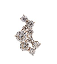 Susan Foster Diamond Strand Single Stud Earring White