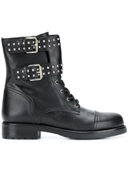 Albano Buckle Detail Ankle Boots Black