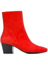 Dorateymur 'Droop Nose' Boots Red