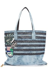 Marc Jacobs Denim And Sequin Tote
