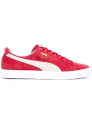Puma 'Clyde Bright Gold Black' Sneakers Men Leather Suede Nylon Rubber 9 Red