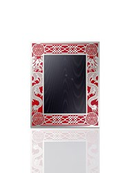 Shanghai Tang 5R Dragon Filigree Photo Frame Red