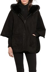 Lauren Ralph Lauren Women's Hooded Faux Shearling Coat