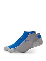Puma Ankle Socks Two Pack Grey Blue