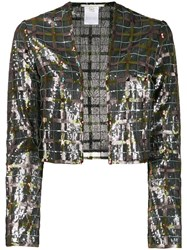 Marco De Vincenzo Embroidered Check Jacket 60