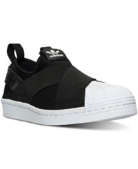 Adidas Women's Superstar Slip On Casual Sneakers From Finish Line Black White