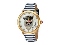 Betsey Johnson Bj00084 90 Nautical Skull Blue White Gold Watches