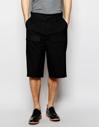 Asos Smart Shorts In Black With Patch Pockets Black