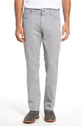 7 Diamonds Men's Brushed Twill Five Pocket Pants Grey
